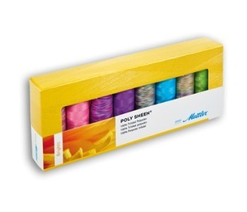 Kit 8 filati Amann Mettler Poly Sheen Brights