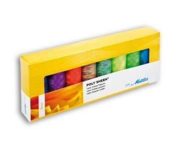 Kit 8 filati Amann Mettler Poly Sheen Neon