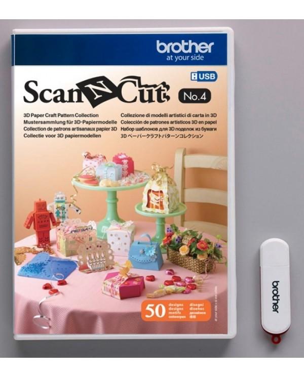 Collezione di modelli artistici di carta in 3D ScanNCut - USB No. 4
