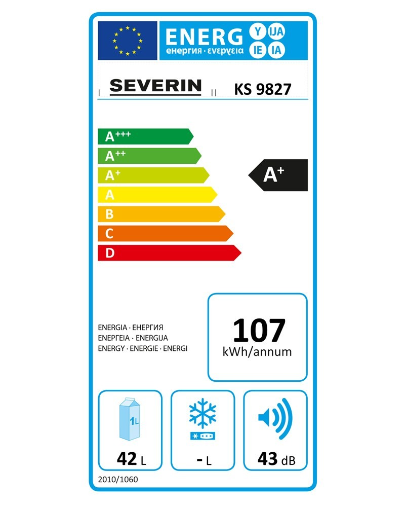 Differenza Classe A+ E A++ severin ks 9838 minifrigo con compressore [classe di efficienza ene