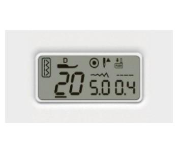 Macchina per cucire Necchi NC-102D - Display informativo